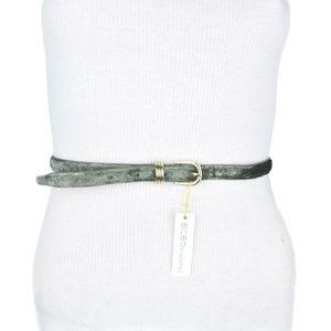 BCBG Grey Shimmering Faux Leather Belt